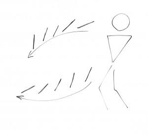 ボレーラケットの動き-(1)