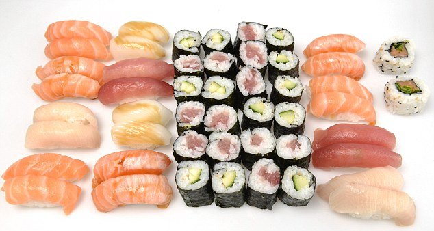July 4th 2013. 50 pieces of Sushi. Andy Murray eats 50 pieces of Sushi ; Credit Image: Kevin Quigley/Daily Mail/Solo Syndication