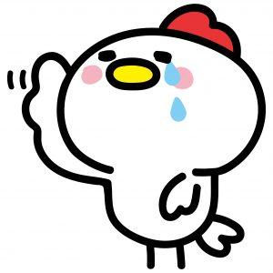 泣いてる鶏
